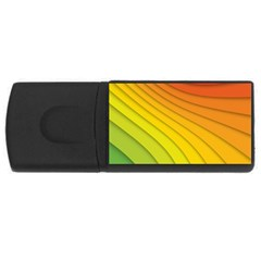 Abstract Pattern Lines Wave USB Flash Drive Rectangular (2 GB) by Nexatart