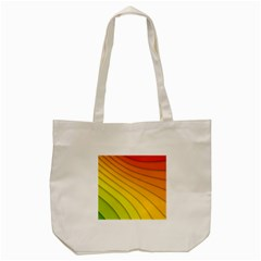 Abstract Pattern Lines Wave Tote Bag (cream) by Nexatart