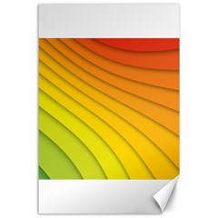 Abstract Pattern Lines Wave Canvas 24  X 36