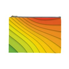 Abstract Pattern Lines Wave Cosmetic Bag (large)