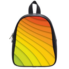 Abstract Pattern Lines Wave School Bags (small)
