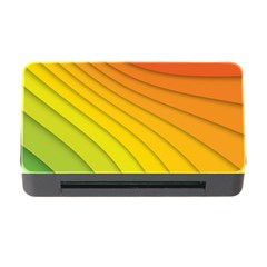 Abstract Pattern Lines Wave Memory Card Reader With Cf by Nexatart