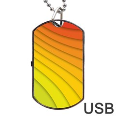 Abstract Pattern Lines Wave Dog Tag Usb Flash (two Sides) by Nexatart
