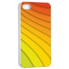 Abstract Pattern Lines Wave Apple Iphone 4/4s Seamless Case (white)