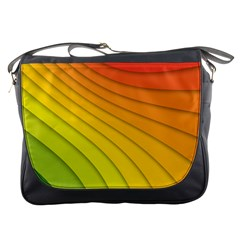 Abstract Pattern Lines Wave Messenger Bags