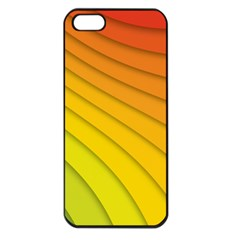 Abstract Pattern Lines Wave Apple Iphone 5 Seamless Case (black) by Nexatart