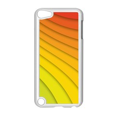 Abstract Pattern Lines Wave Apple Ipod Touch 5 Case (white) by Nexatart