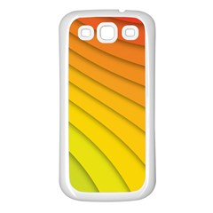 Abstract Pattern Lines Wave Samsung Galaxy S3 Back Case (white)