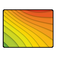 Abstract Pattern Lines Wave Double Sided Fleece Blanket (small)  by Nexatart