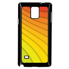 Abstract Pattern Lines Wave Samsung Galaxy Note 4 Case (black)