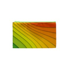 Abstract Pattern Lines Wave Cosmetic Bag (xs) by Nexatart