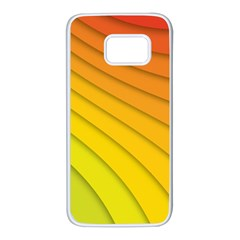 Abstract Pattern Lines Wave Samsung Galaxy S7 White Seamless Case by Nexatart