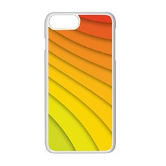Abstract Pattern Lines Wave Apple Iphone 7 Plus White Seamless Case by Nexatart