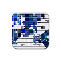 Design Rubber Square Coaster (4 Pack)  by Nexatart