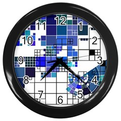 Design Wall Clocks (black) by Nexatart