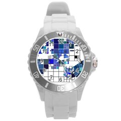 Design Round Plastic Sport Watch (l) by Nexatart