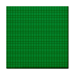 Pattern Green Background Lines Tile Coasters