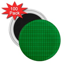 Pattern Green Background Lines 2 25  Magnets (100 Pack)  by Nexatart
