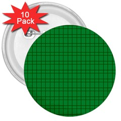Pattern Green Background Lines 3  Buttons (10 pack)