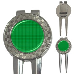 Pattern Green Background Lines 3-in-1 Golf Divots