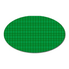 Pattern Green Background Lines Oval Magnet by Nexatart