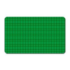 Pattern Green Background Lines Magnet (Rectangular)