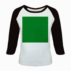 Pattern Green Background Lines Kids Baseball Jerseys