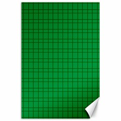 Pattern Green Background Lines Canvas 24  X 36  by Nexatart