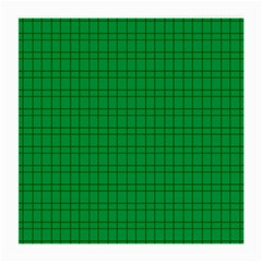 Pattern Green Background Lines Medium Glasses Cloth (2 Side) by Nexatart