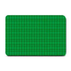 Pattern Green Background Lines Small Doormat  by Nexatart