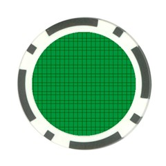 Pattern Green Background Lines Poker Chip Card Guard (10 Pack) by Nexatart