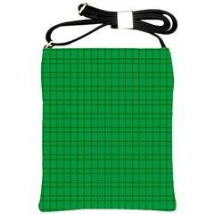 Pattern Green Background Lines Shoulder Sling Bags by Nexatart