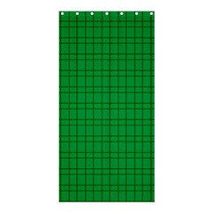 Pattern Green Background Lines Shower Curtain 36  X 72  (stall)  by Nexatart