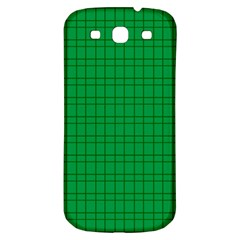 Pattern Green Background Lines Samsung Galaxy S3 S Iii Classic Hardshell Back Case by Nexatart