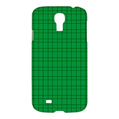 Pattern Green Background Lines Samsung Galaxy S4 I9500/i9505 Hardshell Case by Nexatart