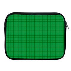 Pattern Green Background Lines Apple iPad 2/3/4 Zipper Cases
