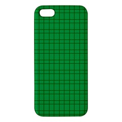 Pattern Green Background Lines Iphone 5s/ Se Premium Hardshell Case by Nexatart