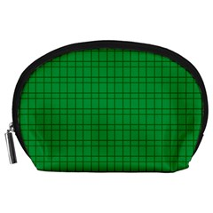 Pattern Green Background Lines Accessory Pouches (Large)
