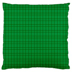 Pattern Green Background Lines Standard Flano Cushion Case (Two Sides)
