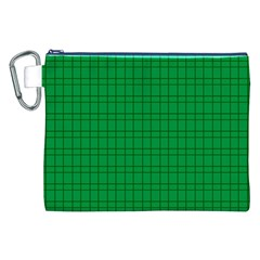 Pattern Green Background Lines Canvas Cosmetic Bag (xxl) by Nexatart