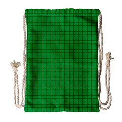 Pattern Green Background Lines Drawstring Bag (large) by Nexatart