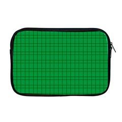 Pattern Green Background Lines Apple MacBook Pro 17  Zipper Case