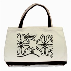 Decoration Pattern Design Flower Basic Tote Bag (two Sides) by Nexatart