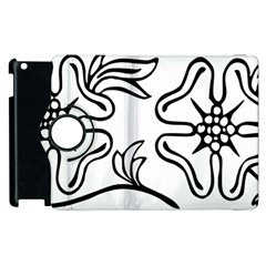 Decoration Pattern Design Flower Apple Ipad 2 Flip 360 Case by Nexatart