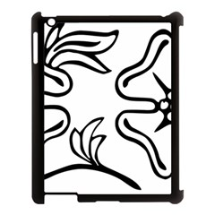 Decoration Pattern Design Flower Apple Ipad 3/4 Case (black) by Nexatart