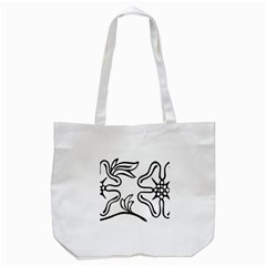 Decoration Pattern Design Flower Tote Bag (white) by Nexatart
