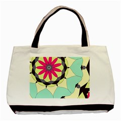 Pink Flower Basic Tote Bag by theunrulyartist