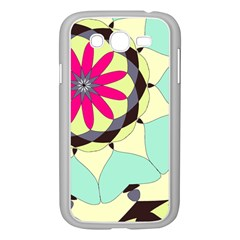 Pink Flower Samsung Galaxy Grand Duos I9082 Case (white) by theunrulyartist
