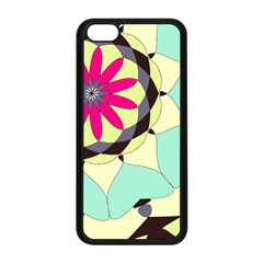 Pink Flower Apple Iphone 5c Seamless Case (black) by theunrulyartist