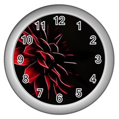 Pattern Design Abstract Background Wall Clocks (silver)  by Nexatart